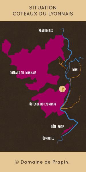 localisation coteaux du lyonnais